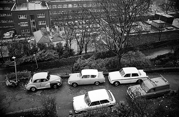Cars parked on Brynteg Terrace, Bangor