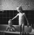 Susie and Peter bathing