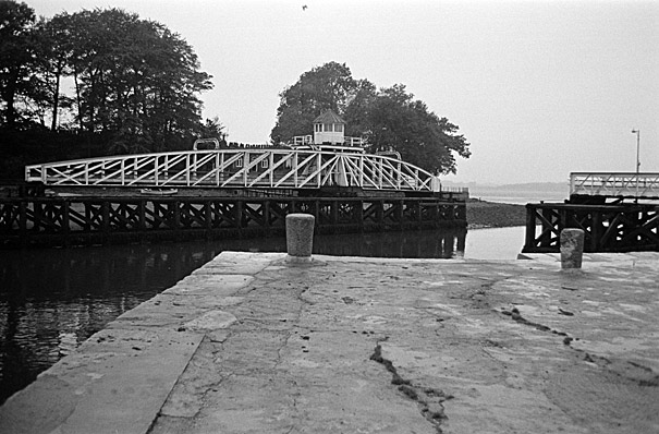 The Aber swing bridge, Caernarfon
