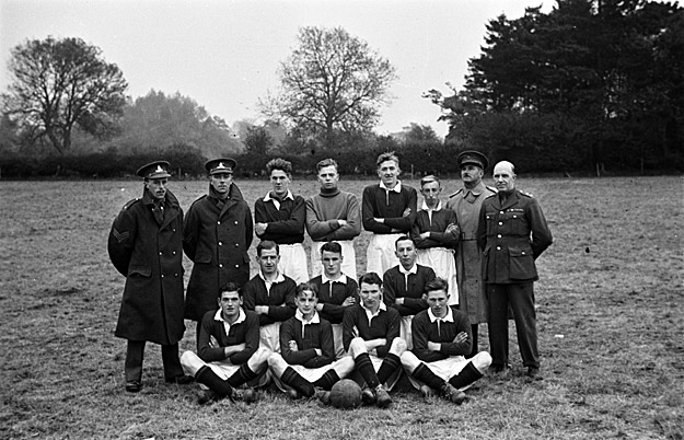 Football teams, including army teams and a works team
