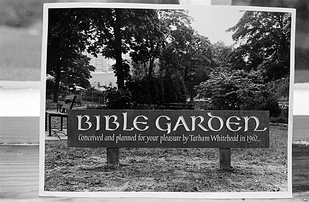Bangor Bible Garden sign