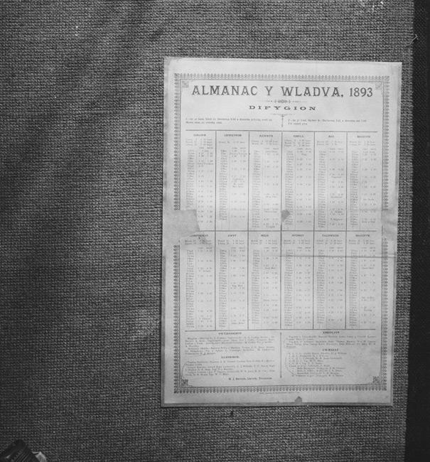 Copies of Almanac y Wladfa 1893 from UCNW Bangor
