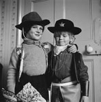 Nicholas Allport and friend dressed as cowboys