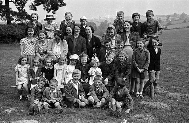 Unidentified group of children