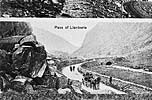 Copies of old photographs of Caernarfon, Llanberis Pass, Quarry Scenes, a village and a church