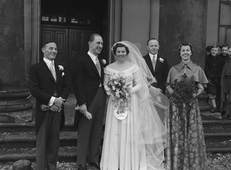 [Evatt wedding at St Chad's, Shrewsbury]