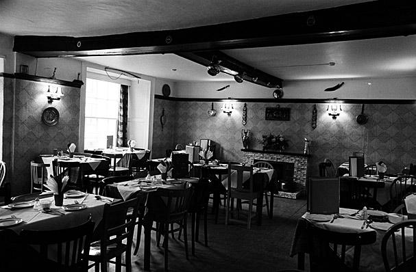 Interior of a café or restaurant