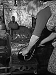 [Making rush candles at Cwmhesgyn Farm, Abergeirw]