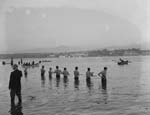 [The great trans-Menai swim]