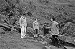 Filming episodes of The Abominable Snowmen for the Dr Who television series at Nant Ffrancon