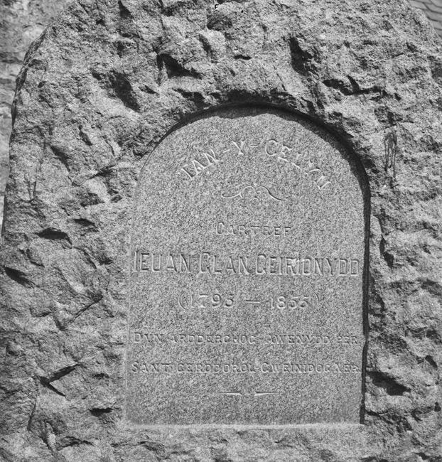 [Memorial to Ieuan Glan Geirionydd (1795-1855)]