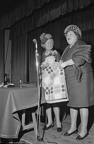 Rhyl's mayor with a group of women during an official engagement