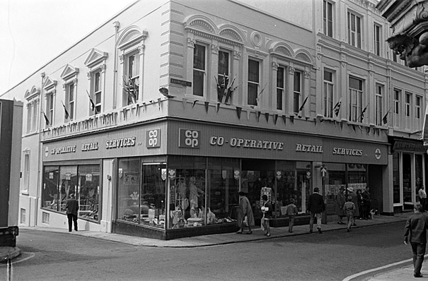 Exterior of Caernarfon's Co-operative store
