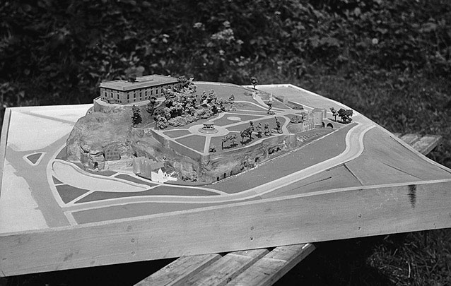 [A model of Nottingham Castle]